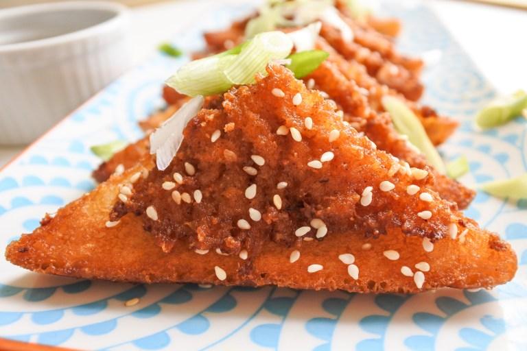 Curried Fried Shrimp Toast