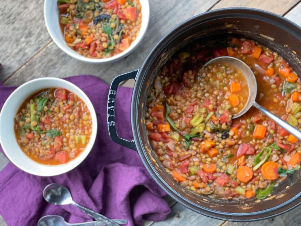 Easy Vegetarian Lentil Soup
