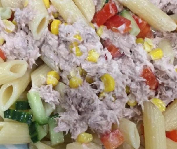 Egg and Tuna Pasta Salad