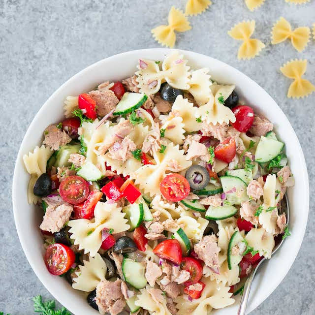 Extra Veggie Tuna Pasta Salad