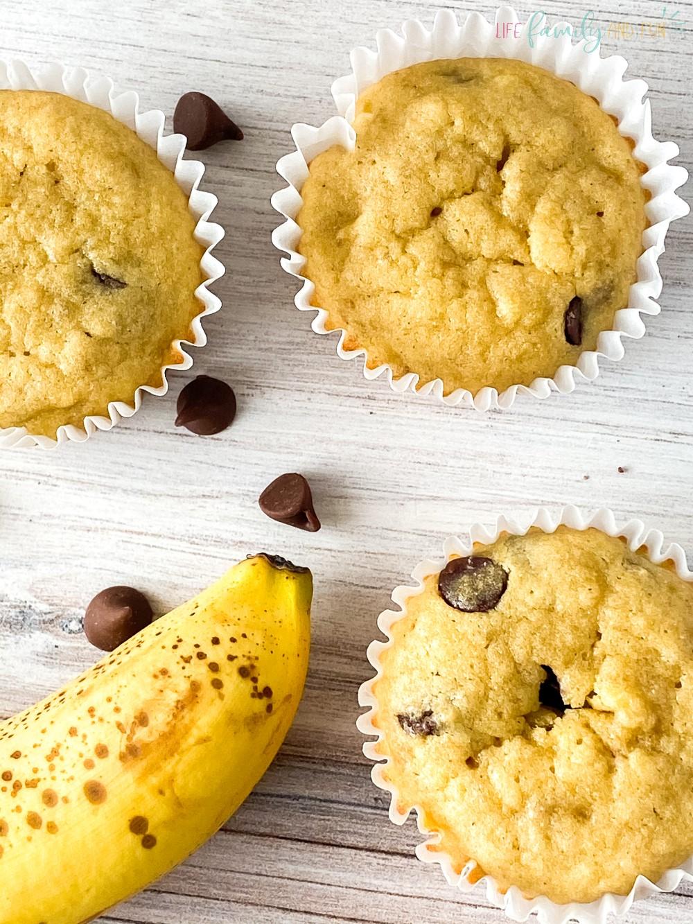 Gluten-Free Chocolate Chip Banana Muffins