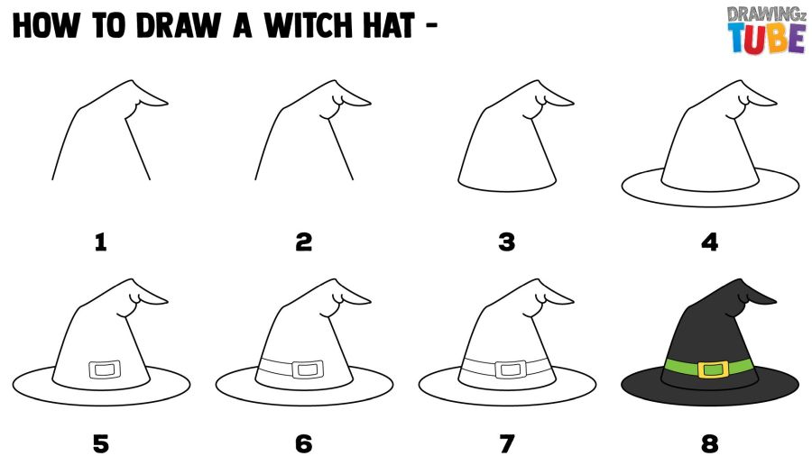 How To Draw A Witch's Hat