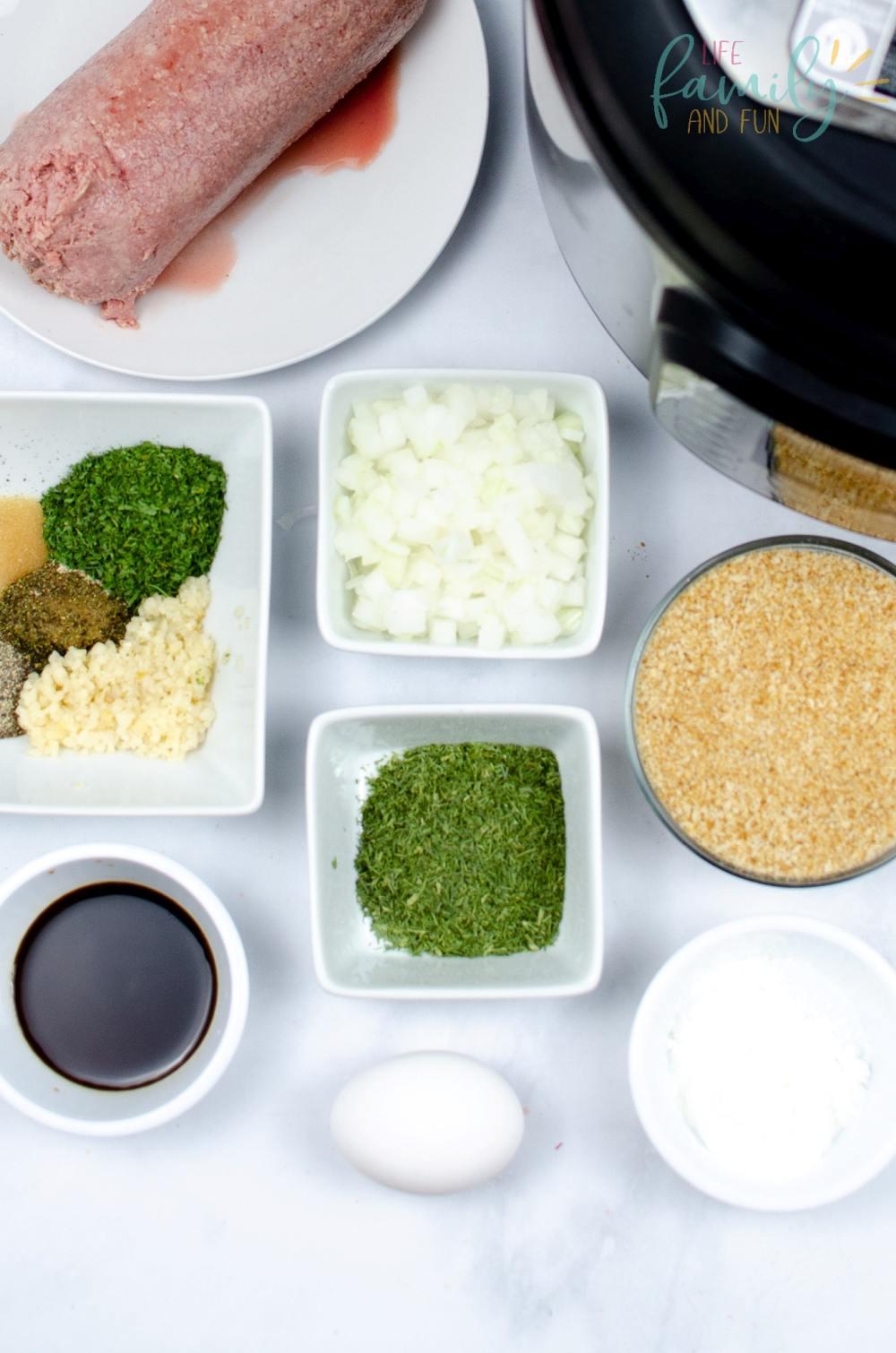 Ingredients forInstant Pot Swedish Meatballs recipe: