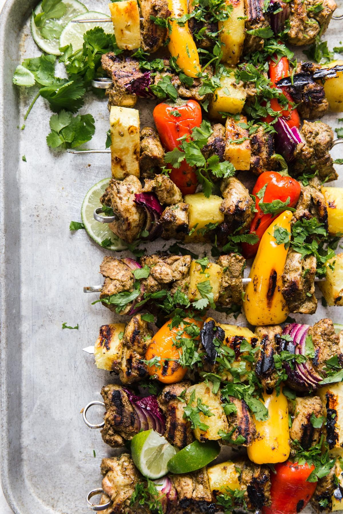 Jerk Chicken Kebabs