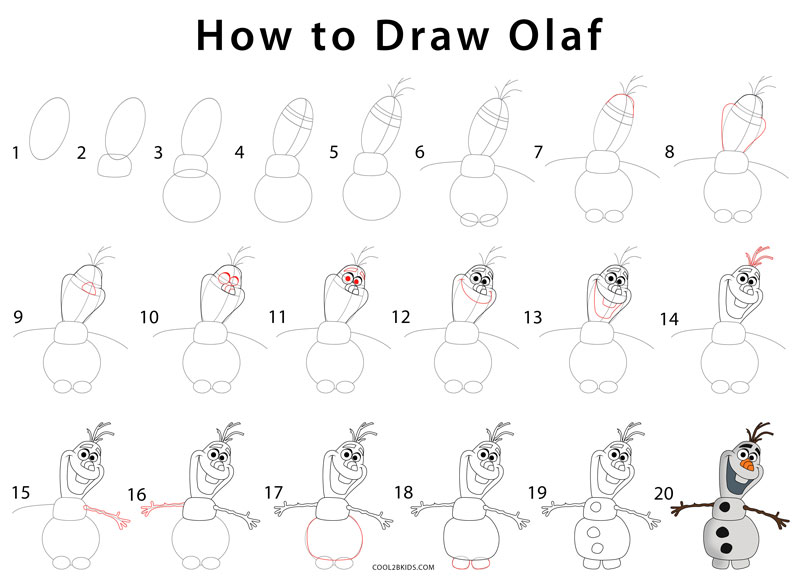 things to draw olaf