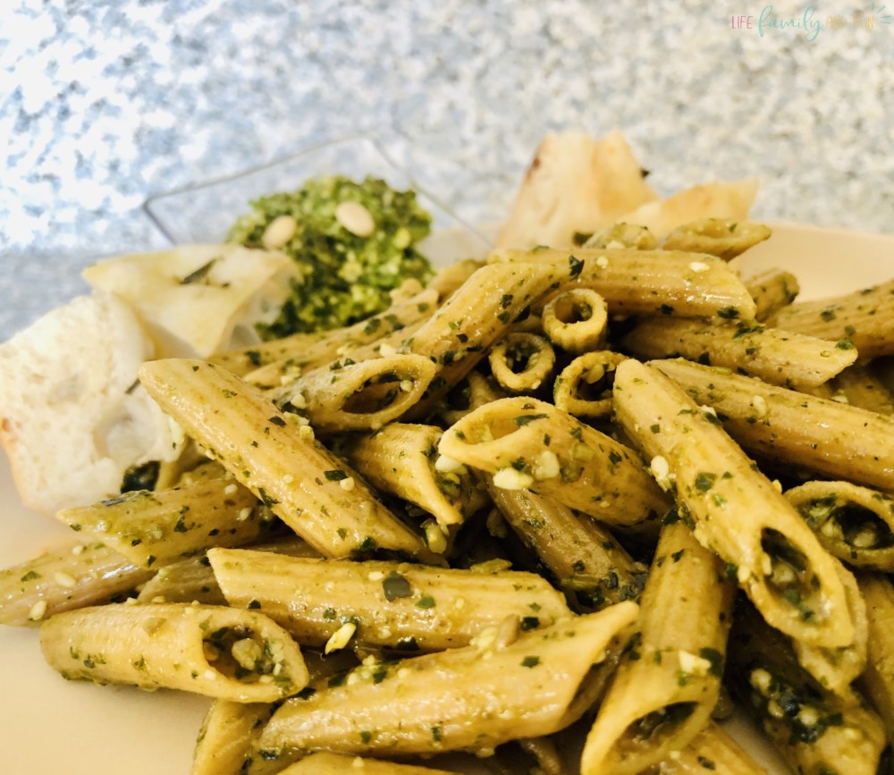 how to make pesto pasta