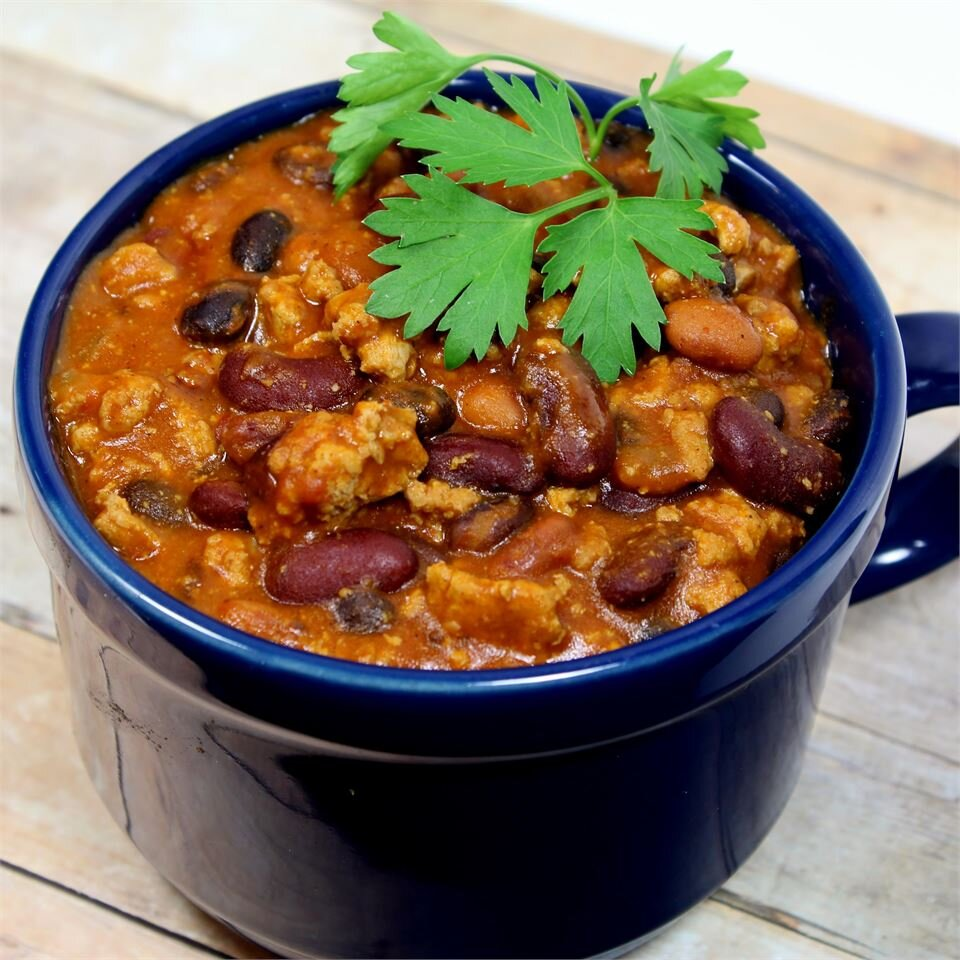 Quick Slow Cooker Turkey Chili