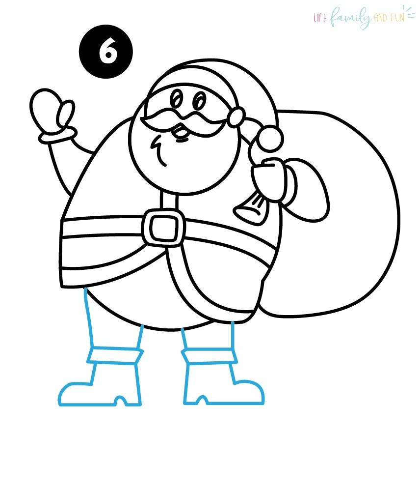 Draw Santa Some Legs