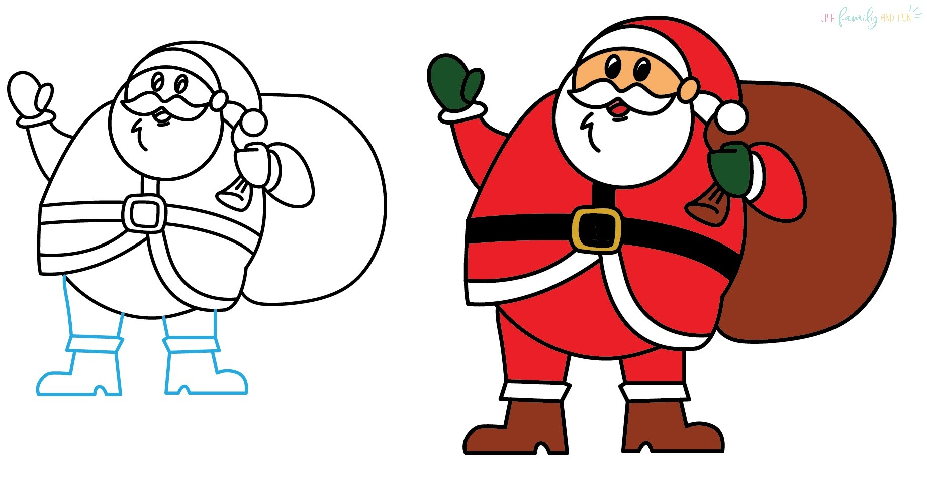 How to paint Santa Claus