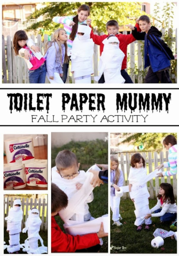 fun family games Toilet Paper Mummy