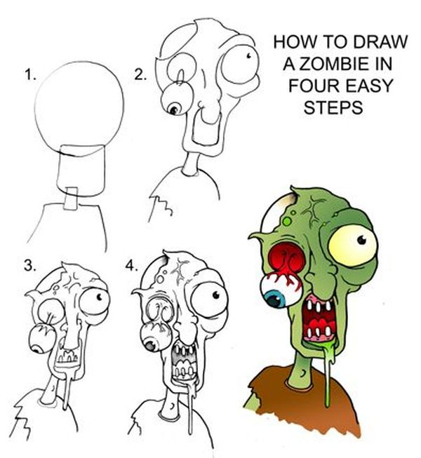 Zombie to draw for halloween