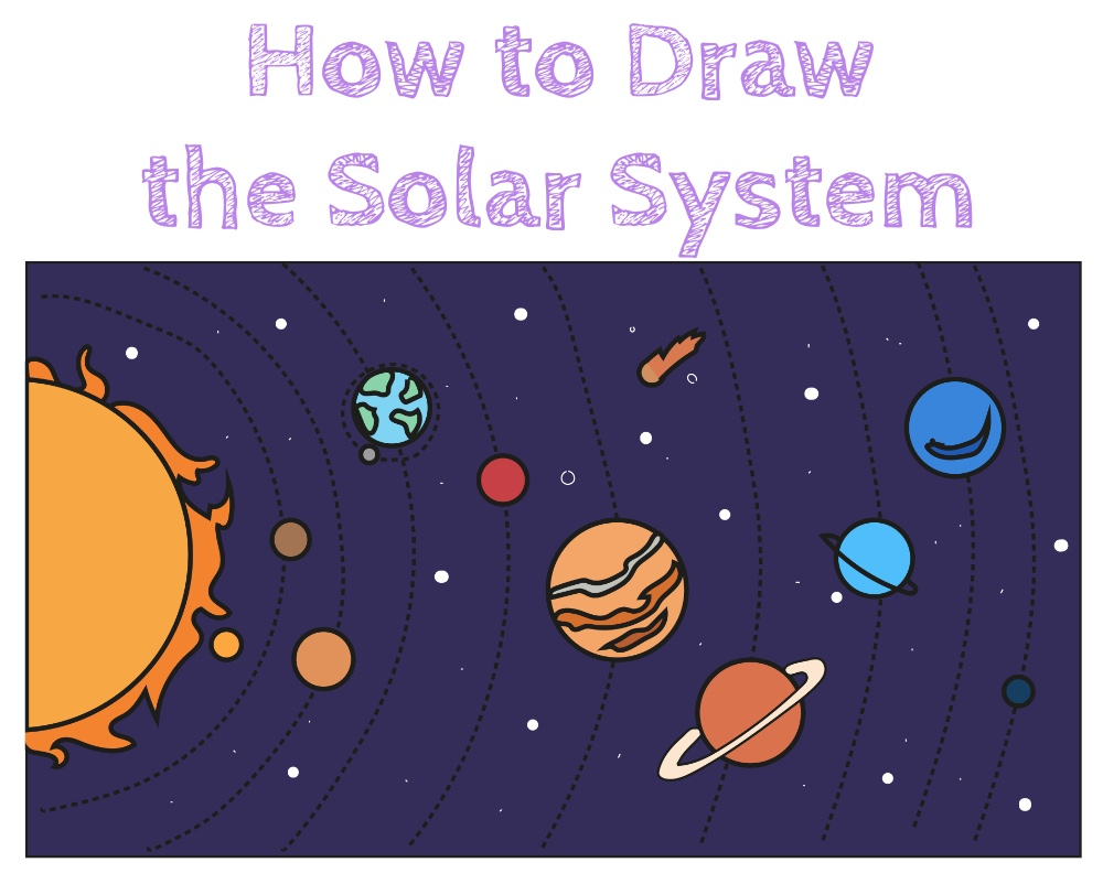 draw the solar system